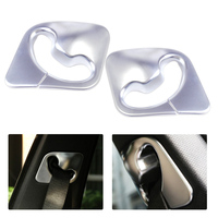 Beler New Silver 2Pcs Chrome Plated B Pillar Seat Belt Car Decoration Cover Trim Fit For