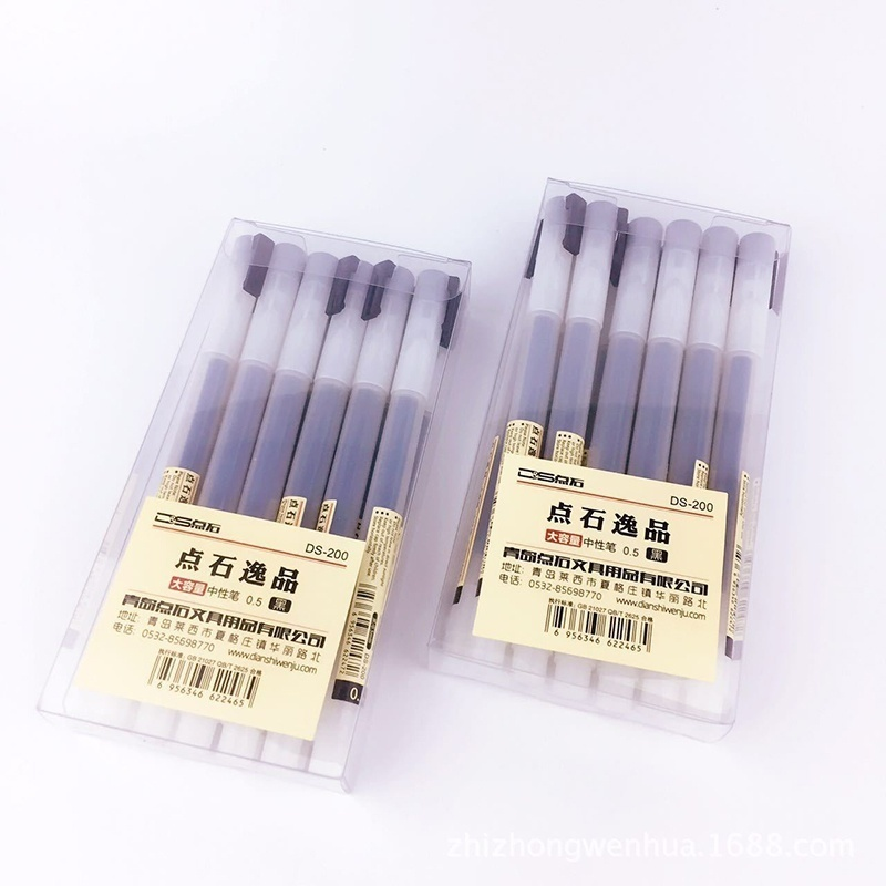 Pen School Stationery Pen-Maker Gel-Pen Office-Supply Water-Based-Pen Muji-Style Red/blue-Ink
