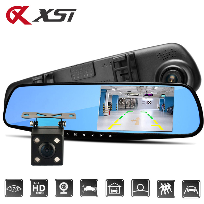 XST 4.3 Inch Full HD 1080P Car Dvr Camera Auto Rearview ...