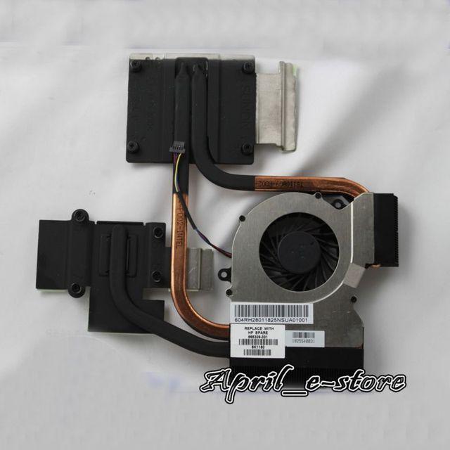 Novo para hp pavilion laptop cpu ventilador de refrigeração do dissipador de calor 666390-001 666391-001, frete grátis!!