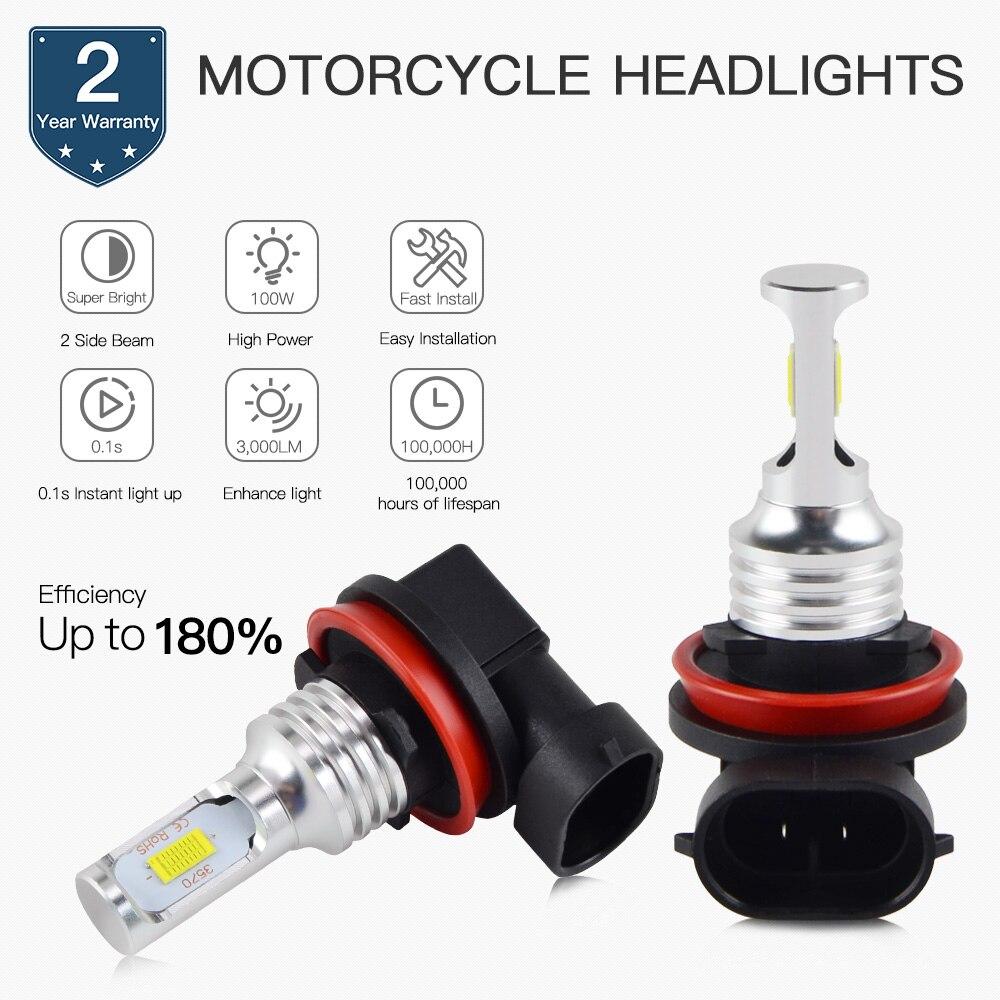 NICECNC LED Hi/Low Beam Headlight Bulbs For Ducati EVO 848 Multistrada 1200 Panigale 899 1199 Superbike 849 899 1098 1198 1199
