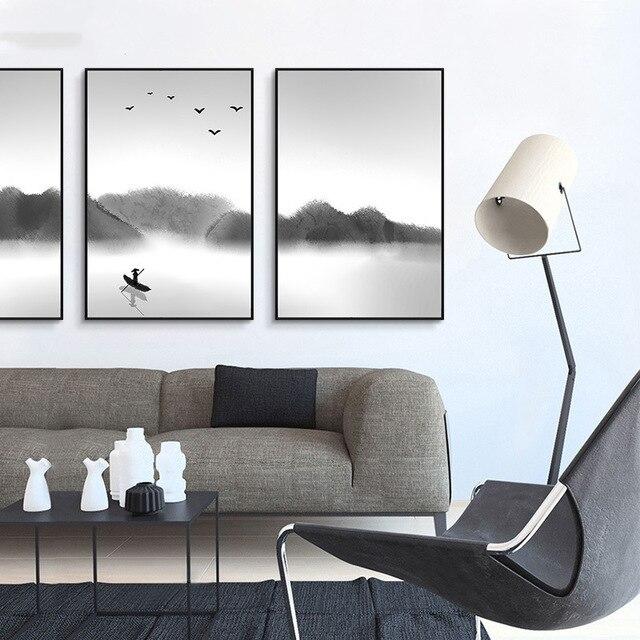 HAOCHU nouveau chinois décoration peinture chambre rétro ...