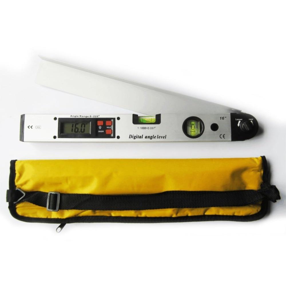 225 Degree Digital Protractor Multi-Angle Ruler Angle Level Meter Gauge Aluminum Alloy Electronic Inclinometer Level
