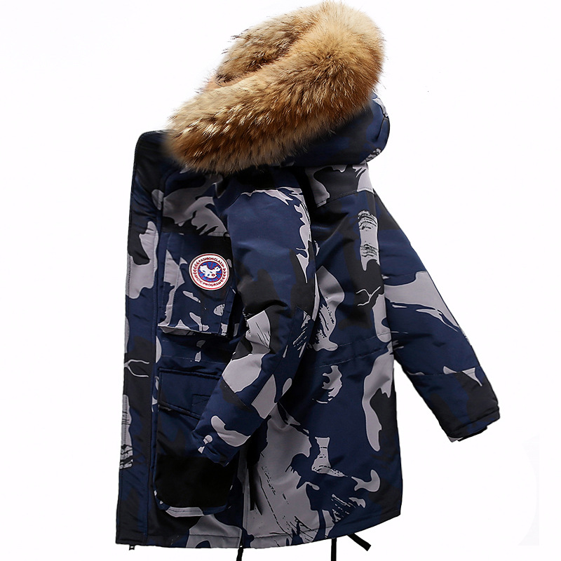 High Quality -40Celsius Down Jacket Keep Warm Men's Winter Thick Snow Parka Overcoat Camouflage White Black Duck 2019New Fashion(China)