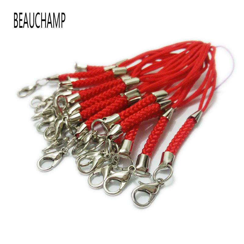 100 × Mobile Phone Cord Lanyard Lariat Dangle With Lobster Clasps Jewellery Make