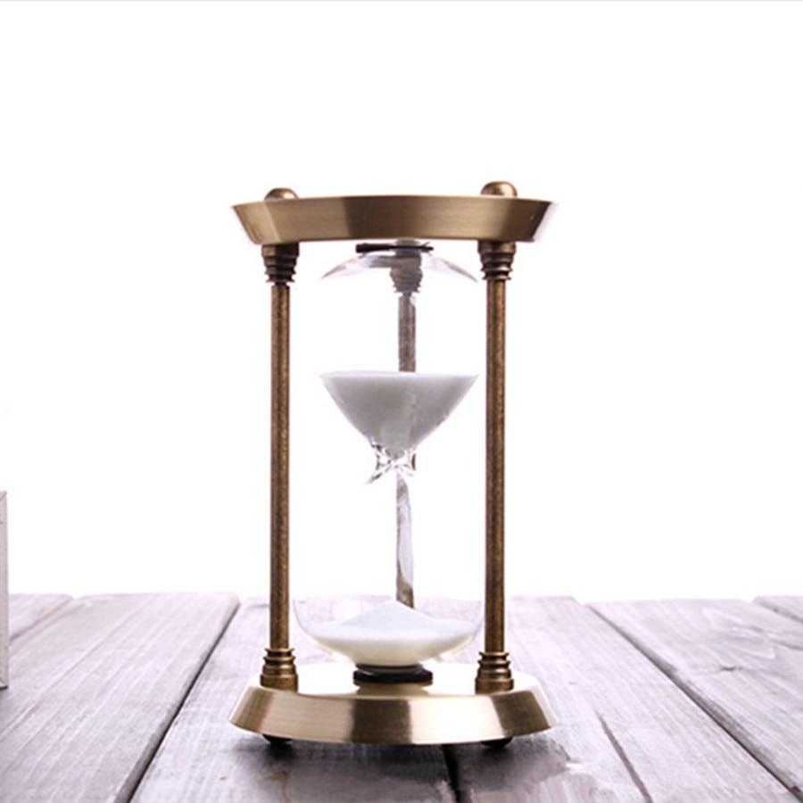 15 Minutos Ampulheta Ornamentos de Bronze Presente de Natal de Aniversário Criativo Areia Ampulheta Relógio Temporizador Decoração de Casa No Quarto