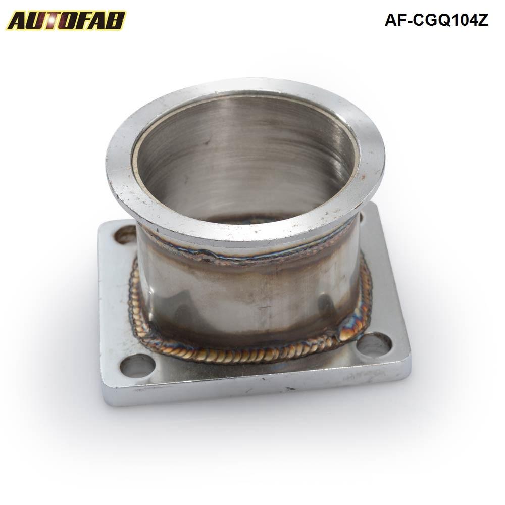 "Mild Steel Adaptor For T4 4Bolt To 3/"" V Band Flange Fit For Toyota Acura Honda"