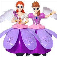 3pc Hyun dance princess walk fashion doll electric dancing robot music rotating doll suitable for children girl toys