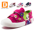 2017 New  Fashion Princess Girls Shoes Canvas Rubber Children Shoes Autumn Spring Pink Rose White Cute Cartoon Girls Sneakers