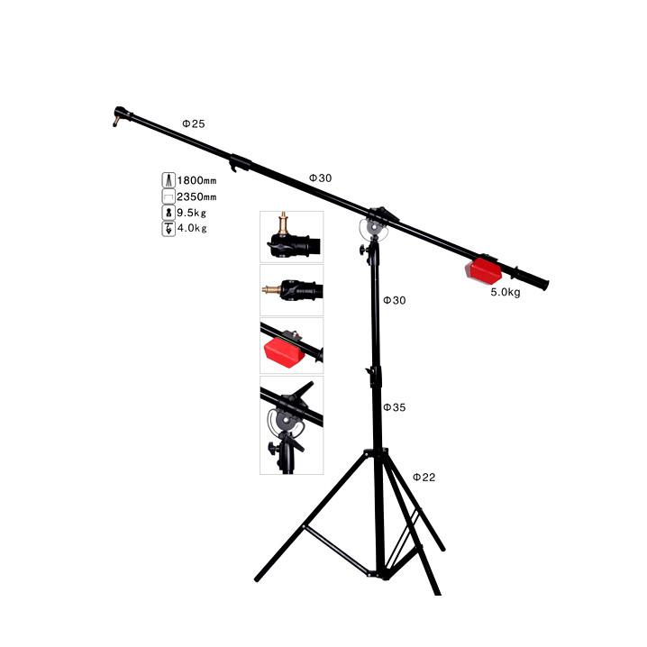 Ardinbir Professional Heavy Duty Studio Boom Arm Stand /& Counter Weight