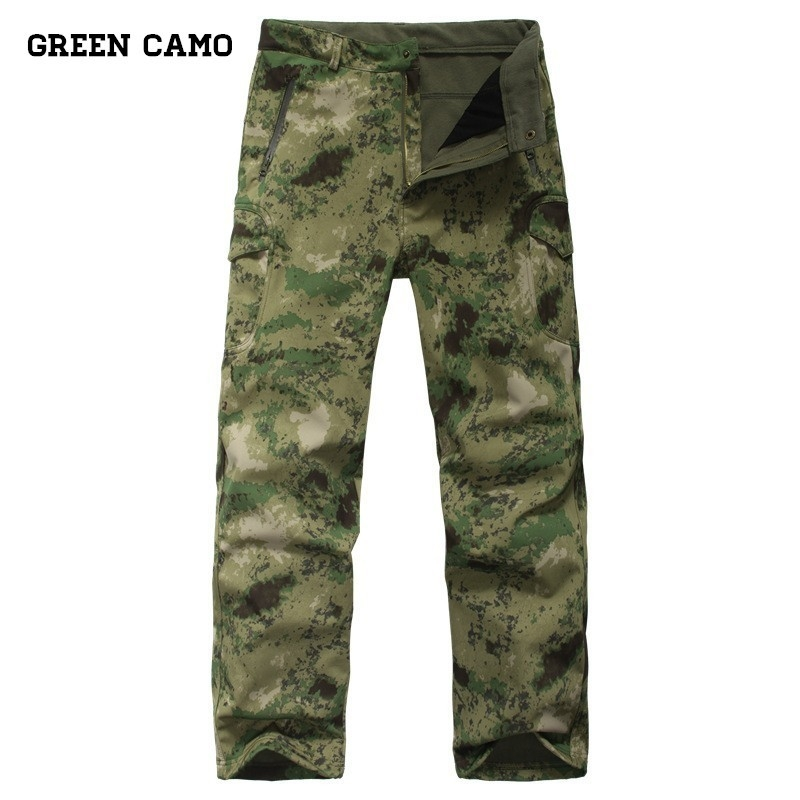 Mutter & Kinder Original Tactical Cargo Hosen Military Soft Shell Hosen Shark Haut Camouflage Fleece Hosen Männer Airsoft Armee Wasserdicht Warmen Arbeit Hosen