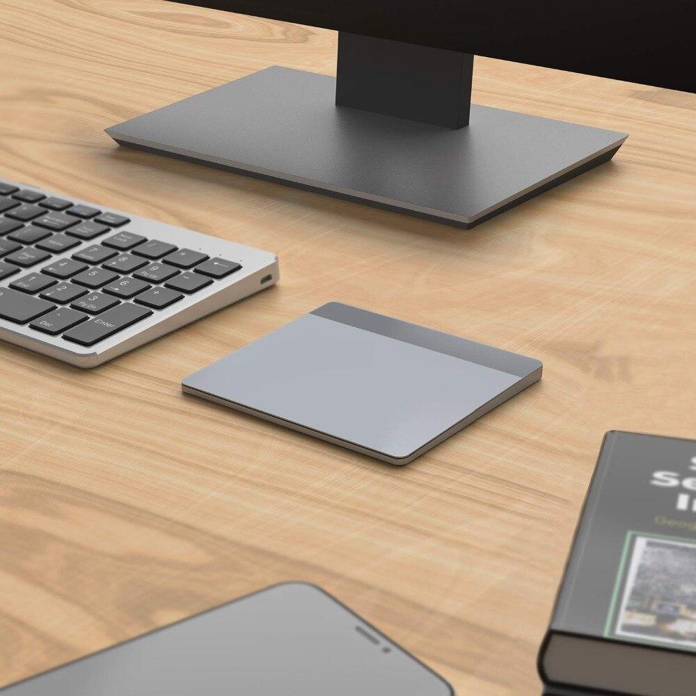 Pavé tactile sans fil Rechargeable de peigne de gelée avec le récepteur Nano pavé tactile sans fil pour le PC portable tablette tactile d'usb pour Windows 10 Mac OS - 6