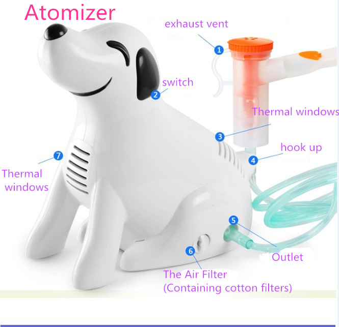 Air Humidifier Portable Ultrasonic Nebulizer sprayer Humidifier Handheld Respirator Medical Vaporizer Home & Office  Nebulizer hot sale medical home health care portable inhaler mini dog cartoon designed sprayer children adult nebulizer