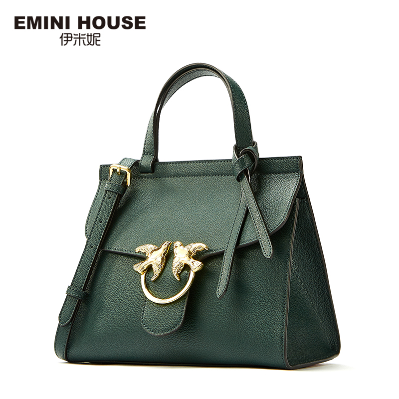 EMINI HOUSE Fashion Split Leather Women Flap Bag Luxury Handbags Women Bags Designer Crossbody Bags for Women Roomy Shoulder Bag серьги fashion house даниэлла цвет серебряный белый