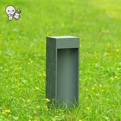 Outdoor 40/60cm czarny szary aluminium szkło led żyrandol trawnik Modern Art Deco oświetlenie krajobrazu projekt na ścieżka ogrodowa Lampy LED na trawnik    -