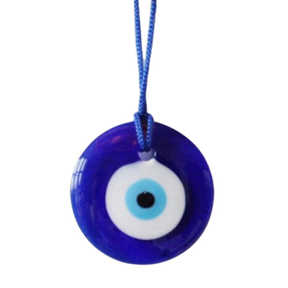 Blue Glass Evil Eye Mal Ojo Good Luck Charm Nazar Amulet Magical Healing Pendant