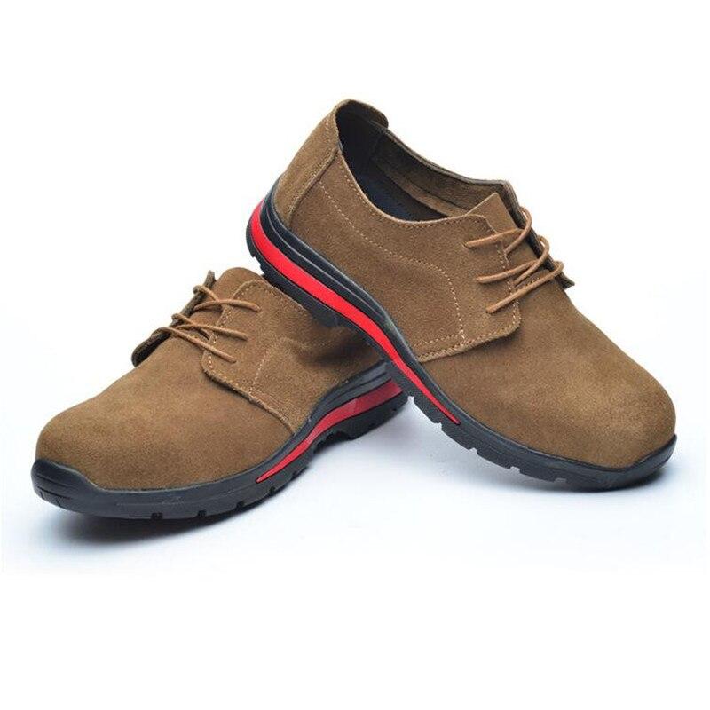 Au Pour Sécurité Hommes Vache Acier Bottes En Embout Grand Mocassins Cuir Chaussures Outillage Travail Summer Casual Mens 1 De Taille Respirant Daim gxzFq