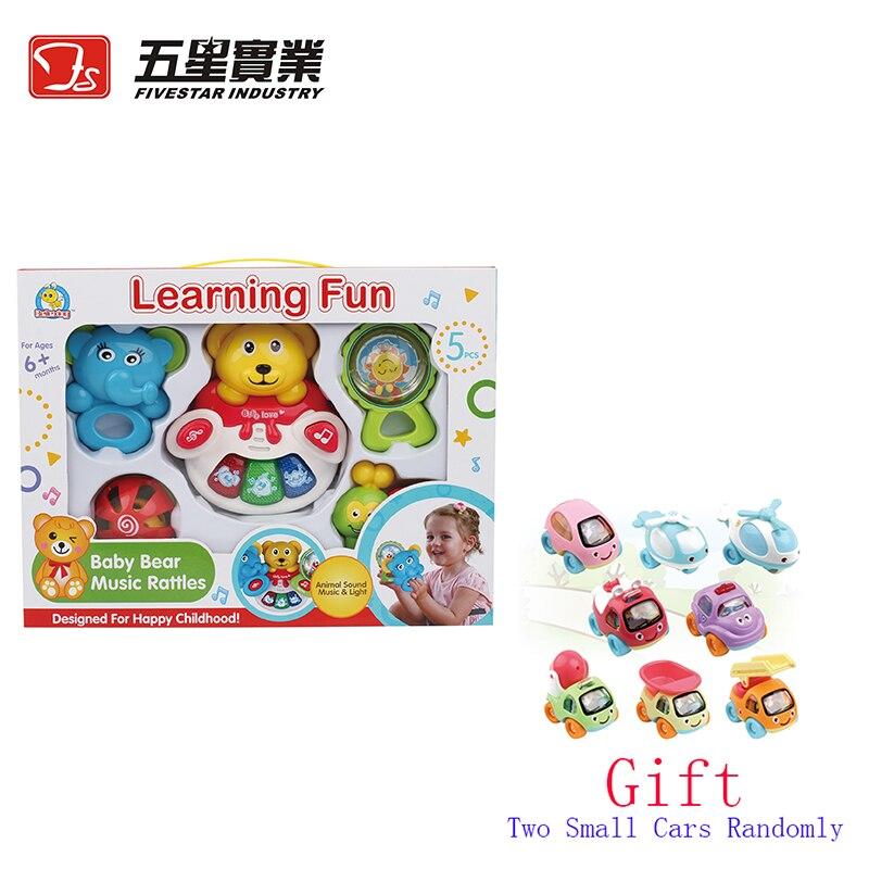 FS JOUETS 1 set 35810 Bébé Ours Musique Hochets bébé développement jouets pour bébés nouveau-né cadeau bébé jouets pour enfants cadeau de noël