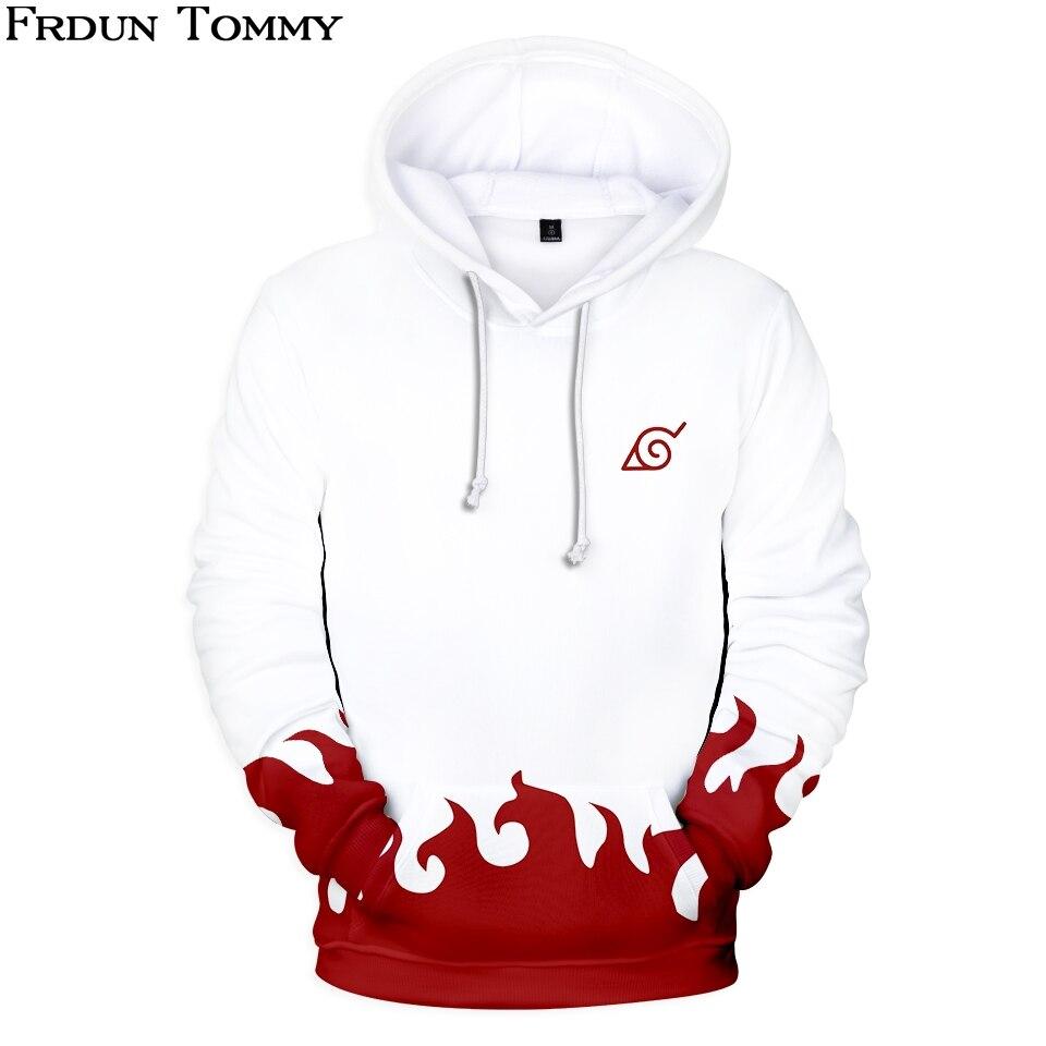 Frdun Tommy 3D HOKAGE Hoodies Sweatshirt Simple Naruto Logo Highstreet Fashion Casual Unisex Harajuku Autumn/Winter Clothes
