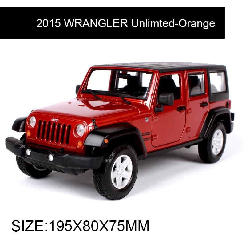 1:24 Diecast modelo 2015 WRANGLER aleación de naranja sin limite - Vehículos de juguete para niños - foto 3