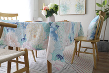 Modern Colorful Flower Print Tablecloth Dining Table Cover Rectangle Table Cloth Home Kitchen Decoration tapetes toalha de mesa colorful balloons print waterproof table cloth