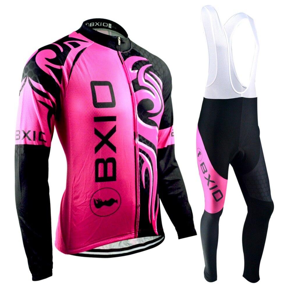 Зимние BXIO Велоспорт Джерси Ропа ciclismo invierno отсутствует команда женщины велосипед одежда тепловой флис с длинным рукавом MTB Велоспорт одежда 045