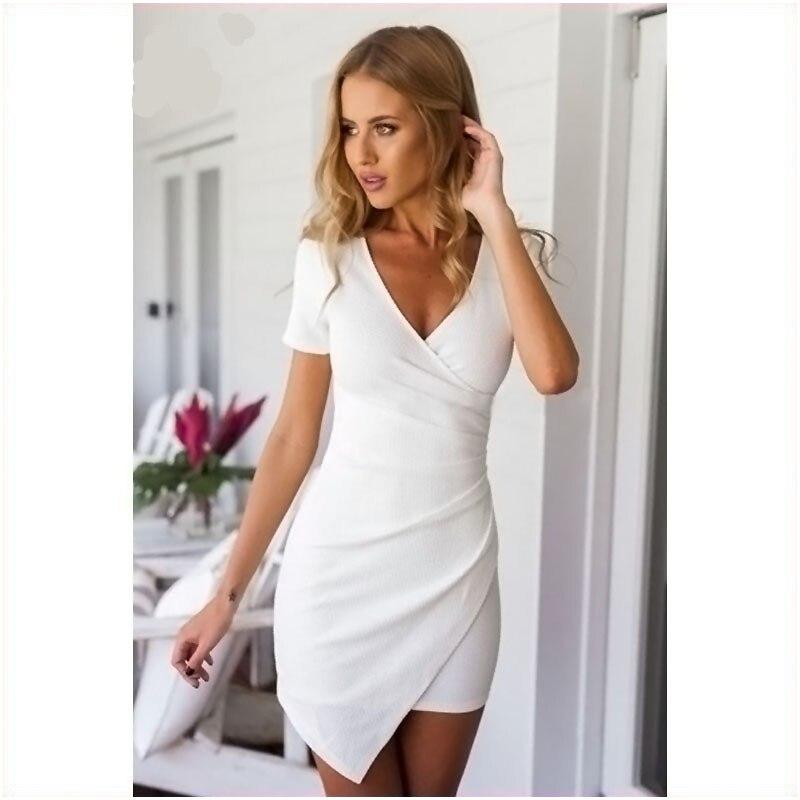 2918064d8c5574 Zeer Zomer jurken casual 2018 voor vrouwen bodycon korte mouw vrouwen  NB58