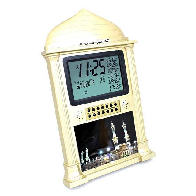 1500 Cites Islamic Muslim Fajr Azan Mosque Wall Clock Pray Reminder