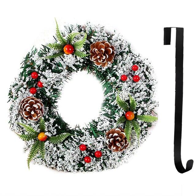 Creatieve Kerst Krans Charmant Frosted Xmas Krans Deur Krans Met