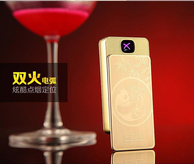 פנדה כפול X דופק arc, USB הגנת הסביבה מצית סיגריה אלקטרונית, מציתים מתכת, מציתים אלקטרוניים