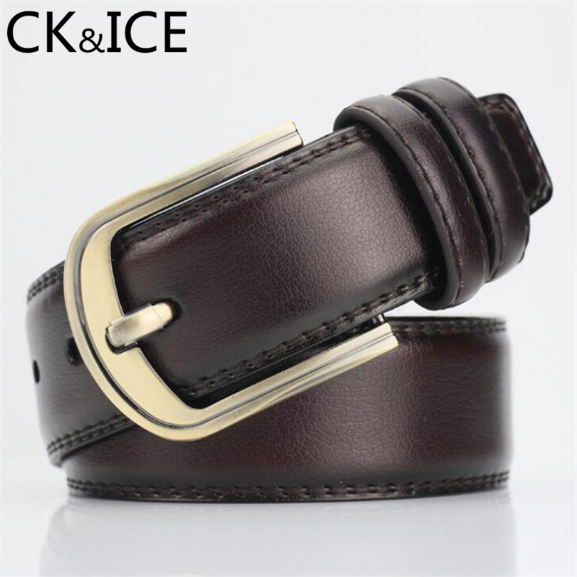 CK&ICE Designer Belts Men Women High Quality PU Leather Belt Solid Color Strap Male Female Belts For Jeans Leather Accessories