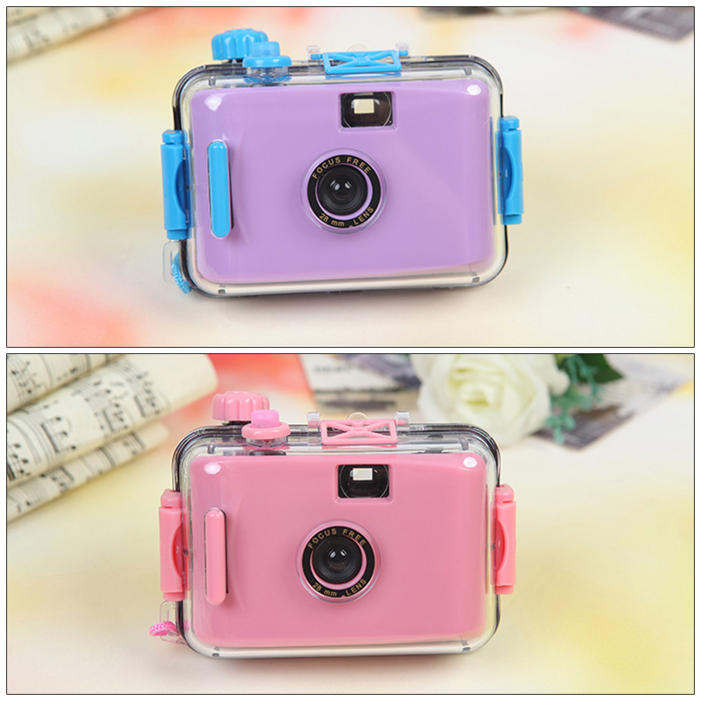 Children's camera Non-disposable camera Film camera LOMO camera waterproof and shockproof (no battery required)