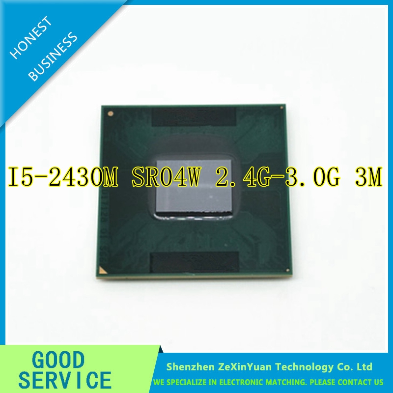 i5 Mobile cpu processor I5-2430M 2.4GHz L3 3M dual core Socket G2 / rPGA988B scrattered pieces i5 2430Mi5 Mobile cpu processor I5-2430M 2.4GHz L3 3M dual core Socket G2 / rPGA988B scrattered pieces i5 2430M