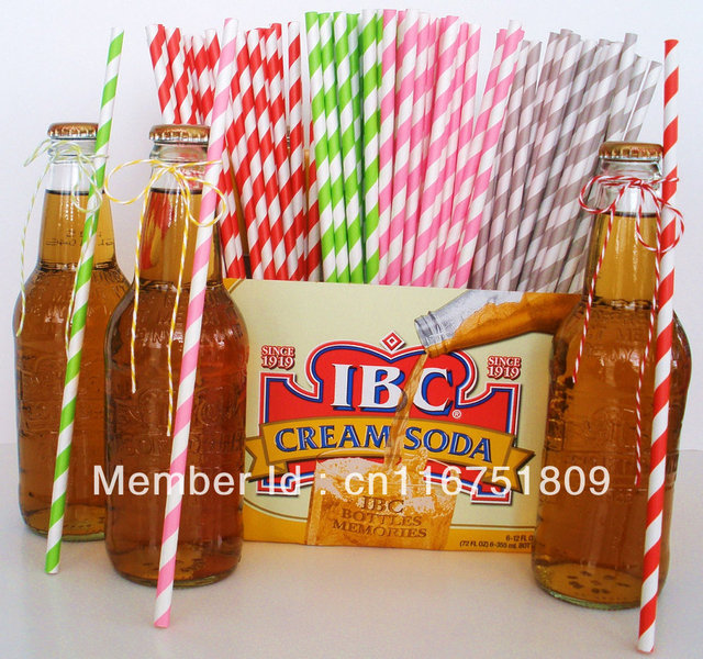 Free shippig 100pcs & 61colors Stripe/Dot  Drinking Paper Straws for party favor Wholesale & Retail