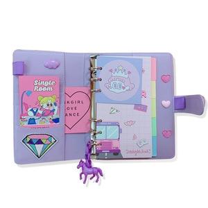 Image 1 - DIY Notebook Planer Kawaii 저널 소녀의 일기 주최자 다채로운 책 노트 학생 일일 주간 계획 편지지 선물