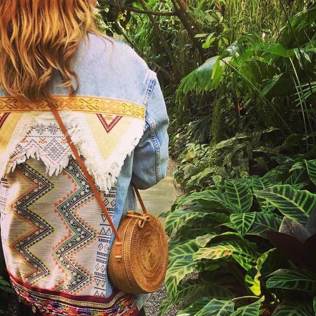 Vintage Handmade Women Rattan Bag Straw Woven Shoulder Bags Bow Holiday Beach Bohemia Crossbody Messengers Handbag round bolsa 6
