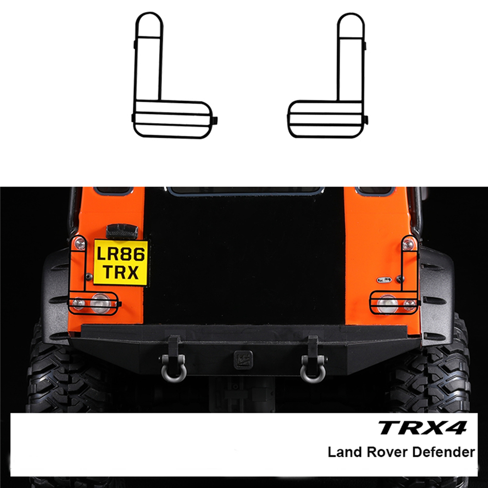 1Pair Metal Lamp Cover with Screws Kit Fit for TRAXXAS TRX-4 Land Rover Defender