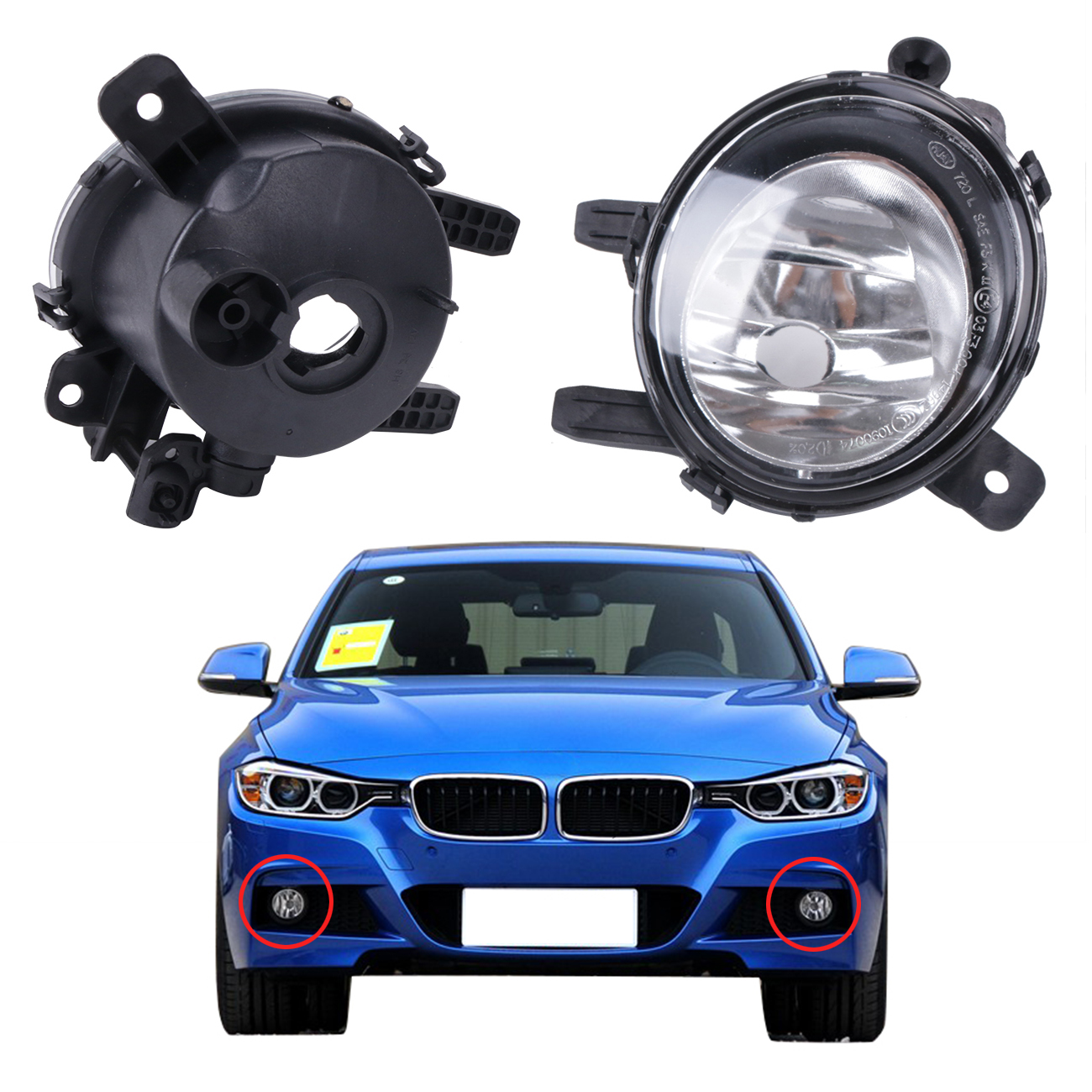 2x Car Bumper Driving Fog Light Lamp Foglamps For BMW F22 F30 F35 320i 328i 335i 3-Series 2012 2013 2014 2015 #W079