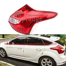 MIZIAUTO 1PCS Rear Tail Light Warning Lamp for Ford Focus Hatchback 2012 2013 2014 Car Styling Accessories Left Right Not Bulb high quality chrome tail light cover for ford focus 08 11 hatchback free shipping