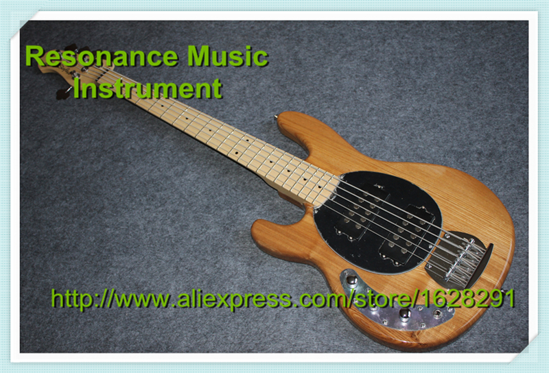 New Arrival Left Hand Musicman Bass Guitar 5 Strings Maple Neck In Stock For Sale