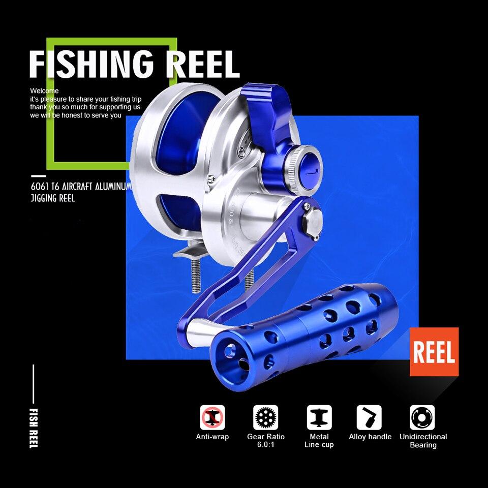 10BB 6.3:1 Right Hand Ball Bearing Saltwater Freshwater Fishing Spinning Reel