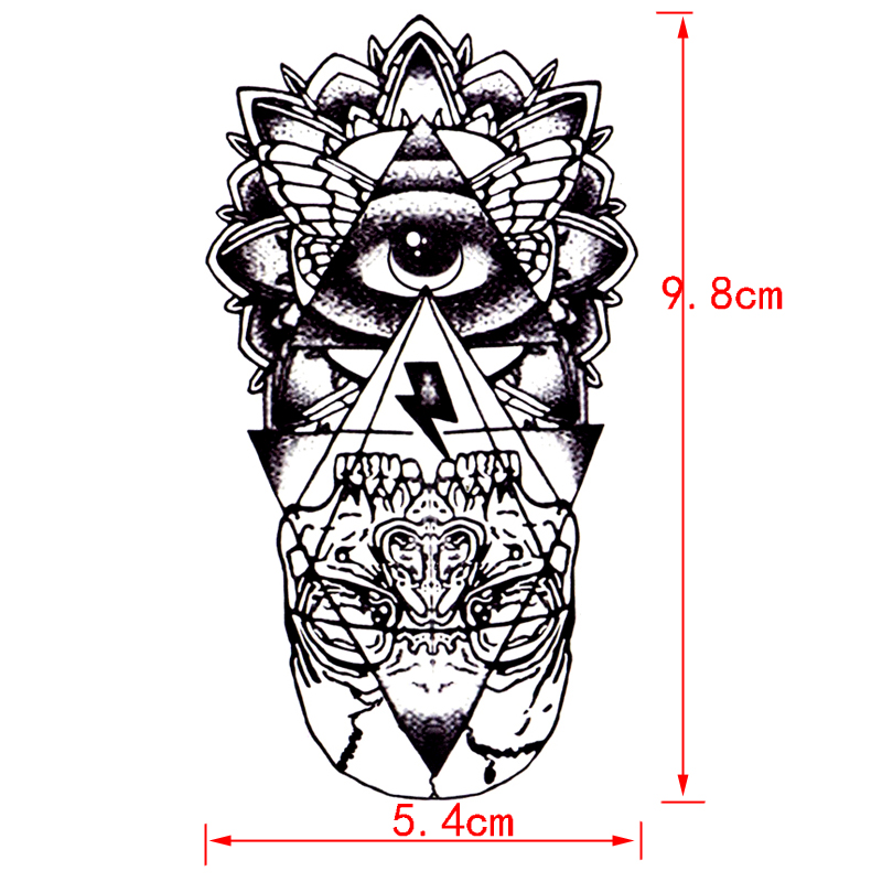 Eye of God Waterproof Temporary Tattoos Sticker totem henna tatoo body art fake tattoo God' s eye flash tattoo for woman men 10