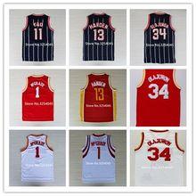 62be1e964322 Retro Vintage  34 Hakeem Olajuwon  1 Tracy McGrady  11 Yao Ming  13