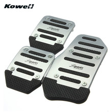 KOWELL Foot Rest Fuel Brake Clutch Pedals Plate Cover Car Pedal Pads For Volkswagen VW Polo Jetta Bora Lavida Golf for Lada