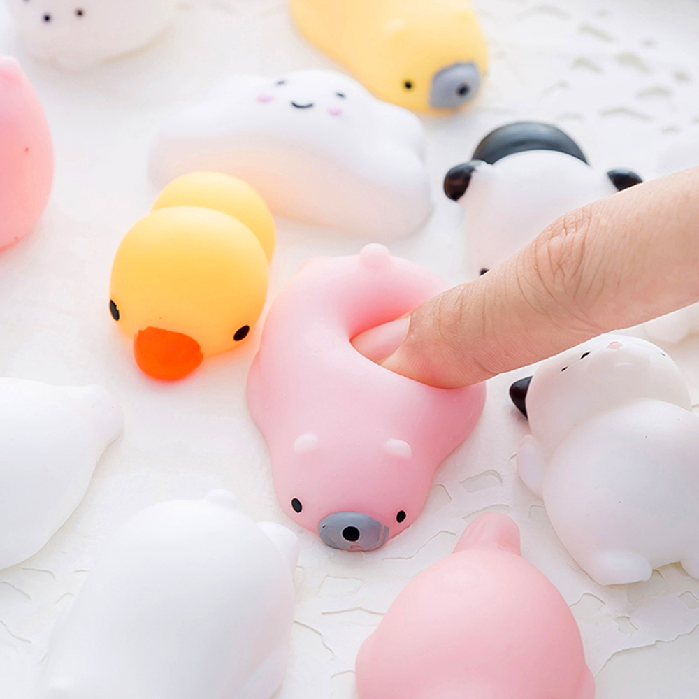 Small Mini Squish Seals Toys Anti-stress Animal Soft Elasticity Presser Jouet Anti Tress Squeeze Toys Sets Phone Accessories