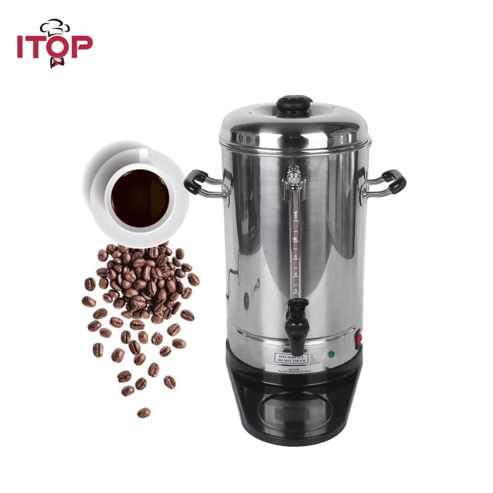 ITOP Electric Automatic Coffee Maker Big Capacity 6L Machine Processors Filter