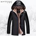 Leather clothing male fur one piece male autumn and winter hat motorcycle leather jacket male plus velvet thickening leather