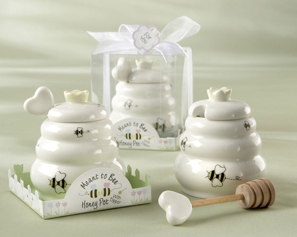 Dinnerware Painstaking 2pcs/lot Mini Honey Pot Set With Honey Dipper Meant To Bee In Gift Box Favors