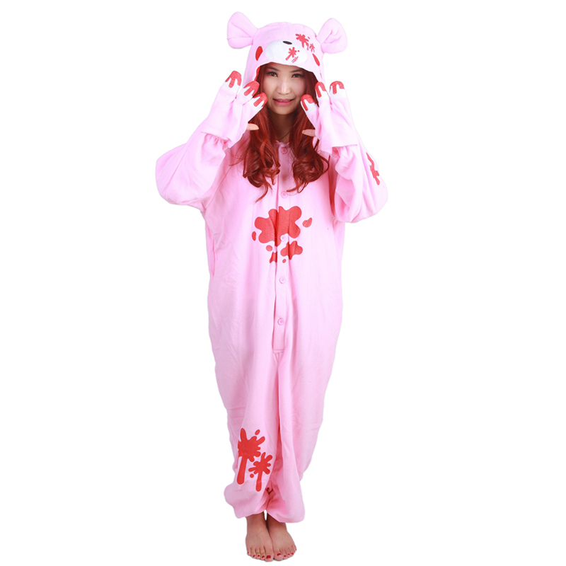 JINUO Violent bear polar fleece sleepwear pijamas enteros de animales Animal Costumes pa ...