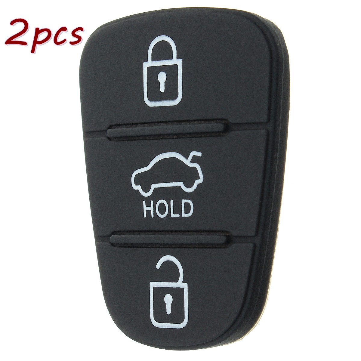 2pcs Rubber Key Button Pad For Hyundai Solaris Accent